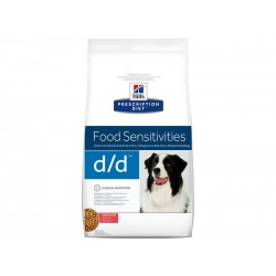 Prescription Diet Chien D/D FOOD SENSITIVITIES SAUMON-RIZ Sac 12 kg