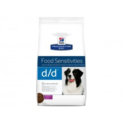 Prescription Diet Chien D/D FOOD SENSITIVITIES CANARD-RIZ Sac 12 kg