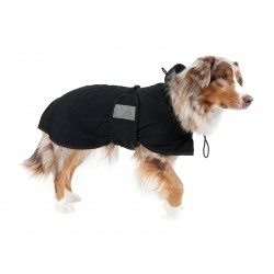 Manteau Chien FILET BACK ON TRACK NOIR 55 cm