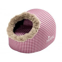 Couchage Chat IGLOO CARREAUX ROUGE 38 X 40 X 27 cm