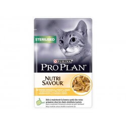 PROPLAN CAT STERILISED POUL 10POCHONS85G