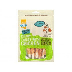 Friandise CHEWY TWIST CHICKEN Chien 100 g X 10